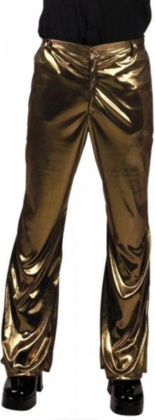 Glänzende goldene Disco-Hose aus den Achtzigern und Neunzigern