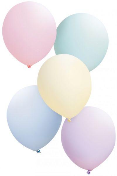 Luftballons Pastellfarben sortiert