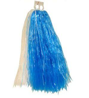Pom Poms blau weiß Cheerball Kürbisse