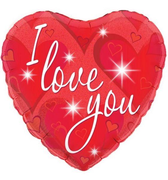 Folienballon Herz I Love You
