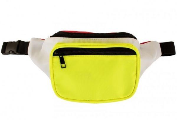 Hüfttasche rot weiß gelb