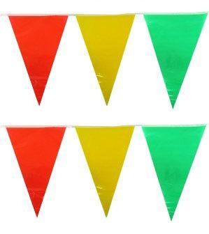 Fasching Flaggen Linie rot gelb grün