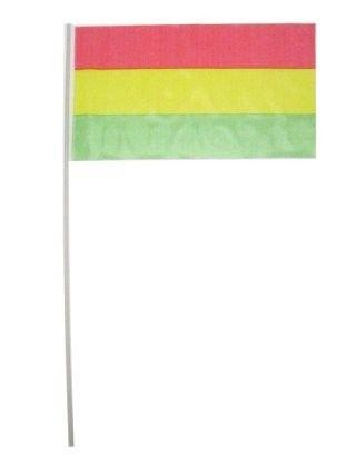 Fasching 2021 Flaggen am Stock rot gelb grün