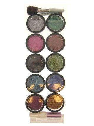 Funkelnpuder 10 Farben mit Bürste Leim und Pinsel