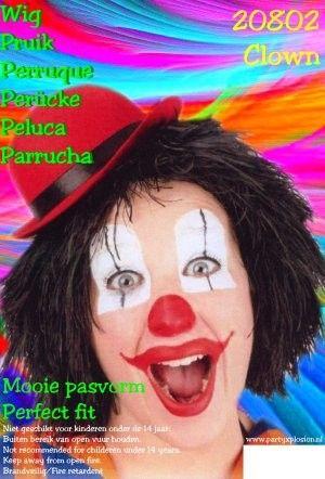 Clown Perücke schwarz