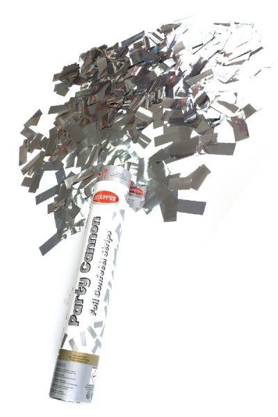 Partykanone Silberpapier 30 cm Papierstreifen
