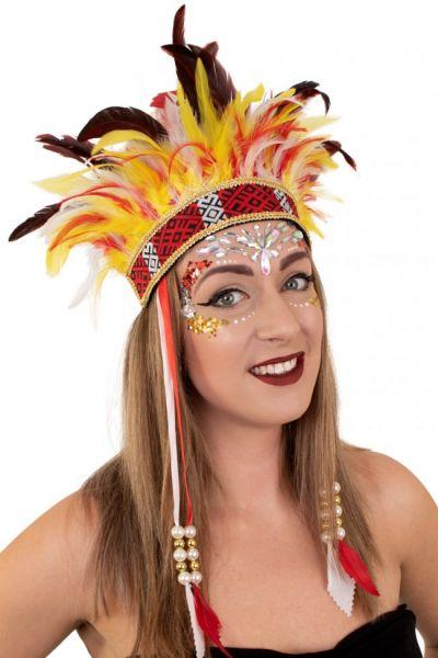 Indianer Tanz Federschmuck El Boscha