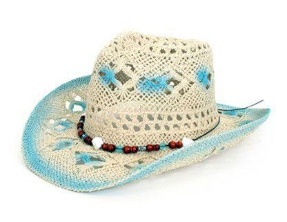 Stetson Hut mit blau weiß Dekoration