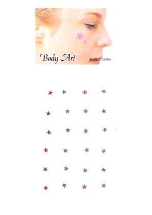 Fancy Gesicht und Körper Juwel Sterne
