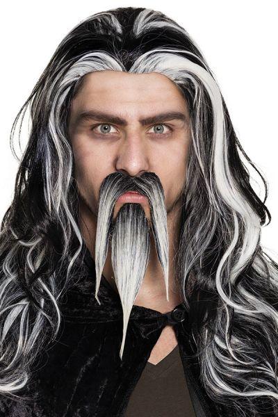 Ziegenbart Schnurrbart grau Wizard