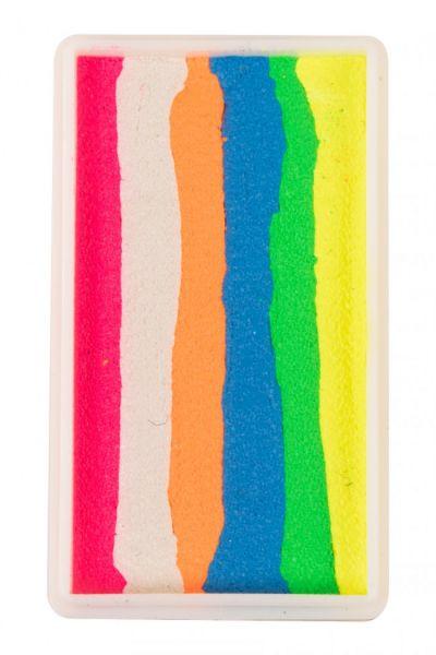 PartyXplosion Split Cake Neon rosa weiß orange blau gelb