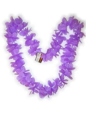 Hawaii Halskette lila Kränze 12 Stück