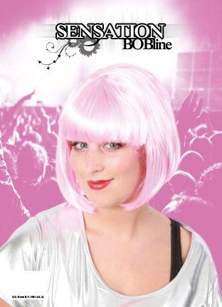 Perücke Bobline rosa Sensation