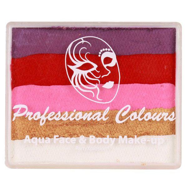 PXP split cake Violett Rot Rosa Perlgold Weiß