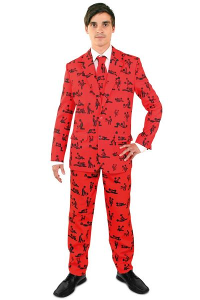 Rood Kamasutra grappig kostuum