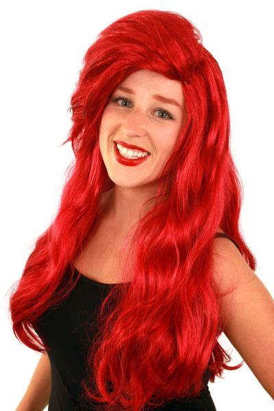 Perücke Luxus rot lang Ariel