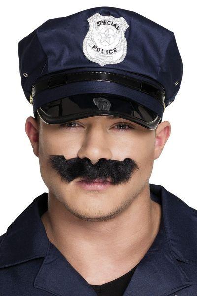 Polizei Schnurrbart schwarz