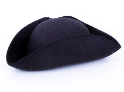 Napoleon Hut aus schwarzem Filz