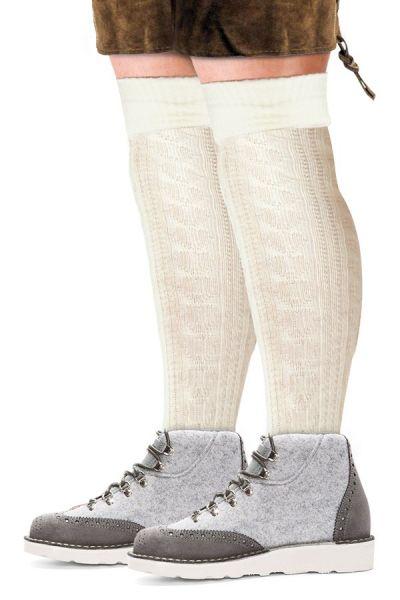 Oktoberfest Tiroler Socken lang Ecru