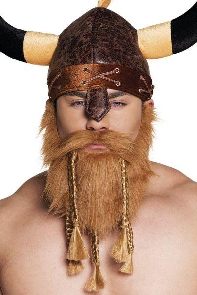 Bart mit Schnurrbart Viking