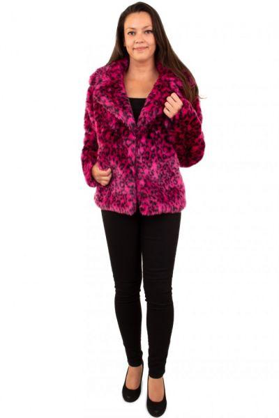 Damen Pelzmantel rosa Panther