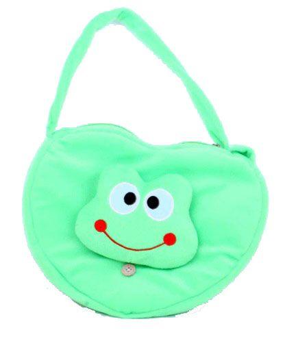Schultertasche Frosch grünes Herz