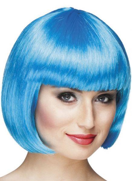 Damen-Perücke Bobline eisig blau