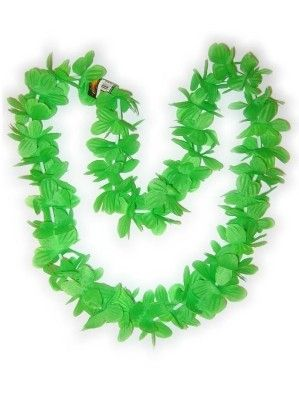 Hawaii Halskette grüne Kränze 12 Stück