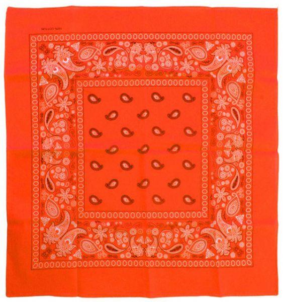 Fluor orange Taschentücher Bandana mit Muster