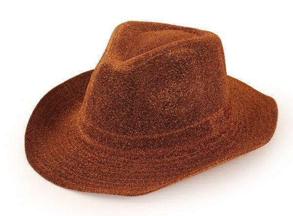 Cowboyhut glitzer gold