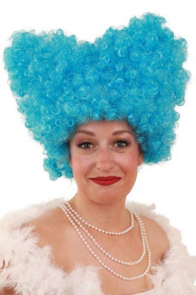 Lustige Perücke Lucy blau