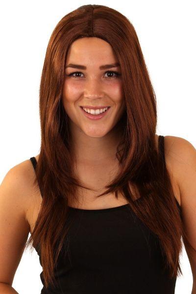 Perücke braune lange Haare