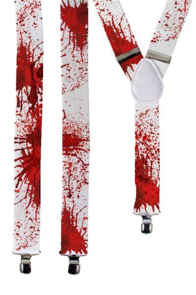 Strapse weiß mit Blut Halloween